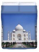 Taj Mahal Landscape Duvet Cover