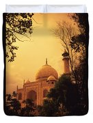 Taj Mahal Sunset Duvet Cover