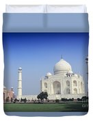 Taj Mahal View Duvet Cover