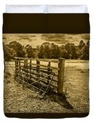 Take A Fence Duvet Cover