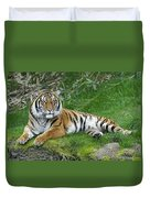 Takin It Easy Tiger Duvet Cover