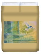Taking Flight To The Light Duvet Cover