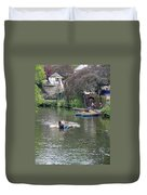 Taking The Oars Duvet Cover