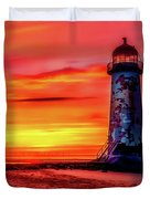 Talacre Lighthouse - Wales Duvet Cover