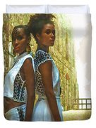 Tale Of Two Sister Duvet Cover