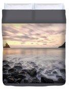 Talisker Bay Boulders At Sunset Duvet Cover