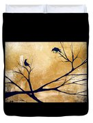 Talking A Lot Of Crow  Duvet Cover