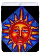 Talking Sun Duvet Cover