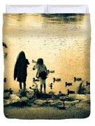 Talking To Ducks Duvet Cover