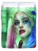 Talking To Harley Quinn - Aquarell Style Duvet Cover