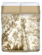 Tall Aspens Duvet Cover