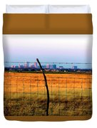 Tall City Morning Duvet Cover