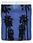 Tall Palm Trees In A Row Duvet Cover