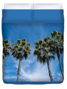 Tall Palms Couples Duvet Cover