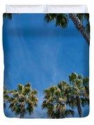 Tall Palms Meet The Sky Duvet Cover