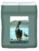 Tall Pelican Duvet Cover