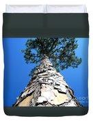 Tall Pine Tree In Summer Duvet Cover