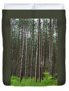 Tall Pines After The Rain Duvet Cover