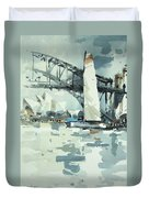 Tall Sails In Sydney Duvet Cover