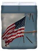 Tall Ship Flag I Duvet Cover