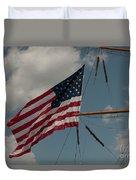 Tall Ship Flag IIi Duvet Cover