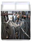 Tall Ship Lines Vi Duvet Cover