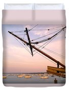 Tall Ship Mayflower II In Plymouth Massachusetts Duvet Cover