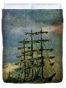 Tall Ship New York Harbor 1976 Duvet Cover