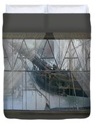 Tall Ship Through A Window Duvet Cover