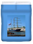 Tall Ship Waiting Duvet Cover