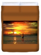 Tall Ships And The Trade Route Duvet Cover