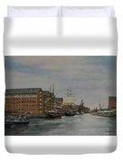 Tall Ships At Gloucester Docks Duvet Cover