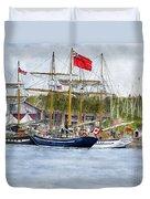 Tall Ships Festival Duvet Cover