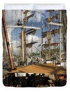 Tall Ships Heritage Landing Duvet Cover