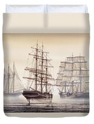 Tall Ships Duvet Cover by James Williamson