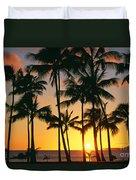 Tall Sunset Palms Duvet Cover