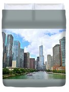Tall Towers In Chicago Duvet Cover