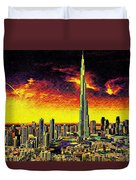 Tallest Building In The World Duvet Cover