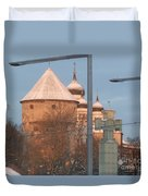 Tallin Towers At Sunrise Duvet Cover