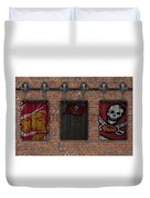 Tampa Bay Buccaneers Brick Wall Duvet Cover