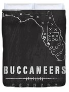 Tampa Bay Buccaneers Art - Nfl Football Wall Print Duvet Cover by Damon Gray