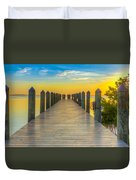 Tampa Bay Sunset Duvet Cover