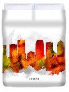 Tampa Florida Cityscape 15 Duvet Cover