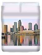 Tampa In Vivid Color Duvet Cover
