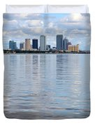 Tampa Skyline Over The Bay Duvet Cover