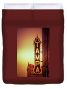 Tampa Theatre Duvet Cover by Carolyn Marshall