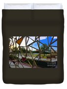 Tampa Through Art Duvet Cover
