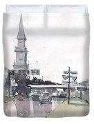 Tampa Tower At Hillsborough Intersection Duvet Cover