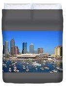 Tampa's Day Panoramic Duvet Cover