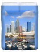 Tampa's Flag Ship Duvet Cover by David Lee Thompson